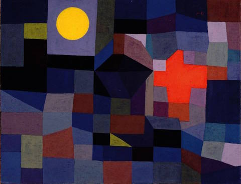 Paul Klee, fire at full moon