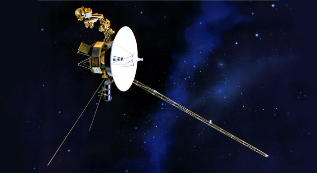 a diagram of the Voyager spacecraft (I think)