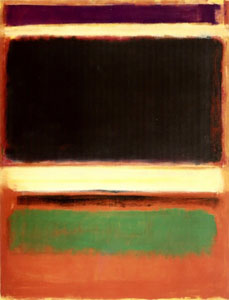 Rothko - Magenta, black, green on orange, 1947