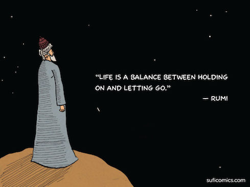 a cartoon of Rumi