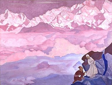 "Roerich painting ""she leads"""
