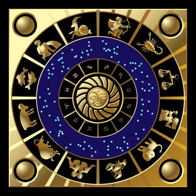 a diagram of the astrological zodiac
