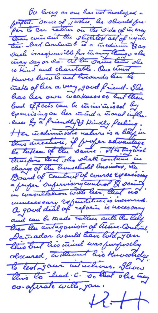 part of the Mahatma Letters