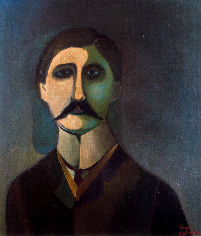 painting of Proust by Lindner Richard