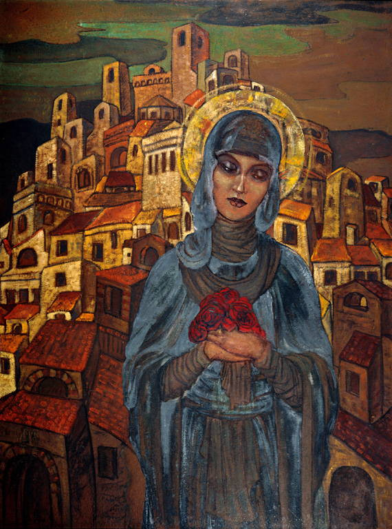 "Roerich painting ""Roses of Heart - Princess Olge"""