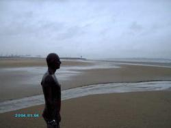 Iron Man on Crosby Beach by Antony Gormley