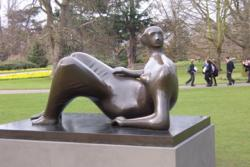reclining female body by Henry Moore