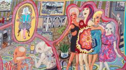 part of a tapestry by Grayson Perry